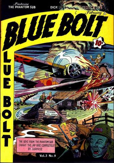 Blue Bolt (1942) 9-A by Novelty Press