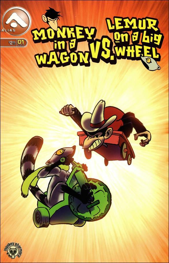 Monkey in a Wagon vs Lemur on a Big Wheel 1-A by Alias