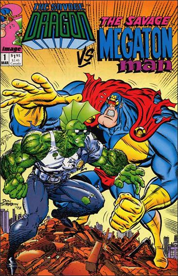 Savage Dragon vs the Savage Megaton Man 1-A by Image