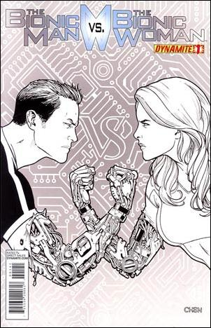 Bionic Man vs the Bionic Woman 1-G by Dynamite Entertainment