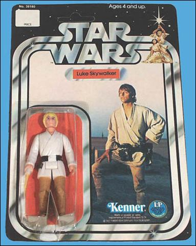 "Star Wars 3 3/4"" Basic Action Figures (Vintage) Luke Skywalker (SW12 Back) by Kenner"