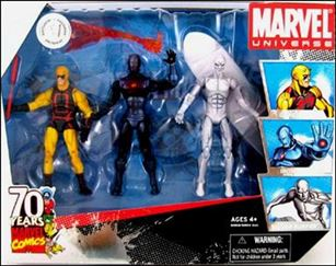 Marvel Universe (3-Packs) Daredevil, Iron Man, and Silver Surfer