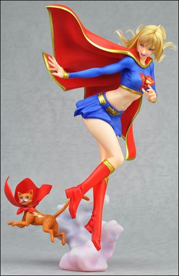 DC Bishoujo Statues Supergirl with Streaky by Kotobukiya