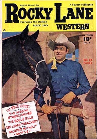 Rocky Lane Western (1949) 5-A by Fawcett