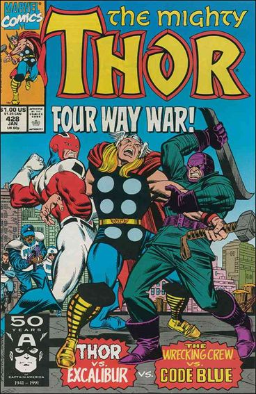 Thor (1966) 428-A by Marvel