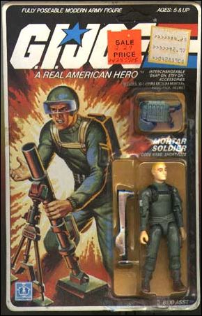 "G.I. Joe: A Real American Hero 3 3/4"" Basic Action Figures Short-Fuze (Mortar Soldier) by Hasbro"