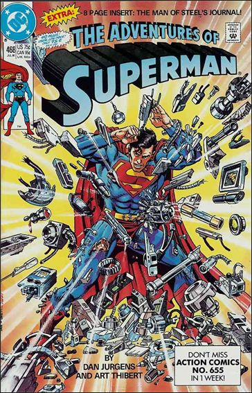 Adventures of Superman (1987) 468-A by DC