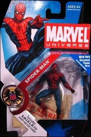 Marvel Universe (Series 1) Spider-Man (Red & Dark Blue Costume)