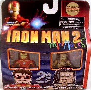 Marvel Minimates (Exclusives) Mark IV Iron Man and Battle Damaged Whiplash by Diamond Select