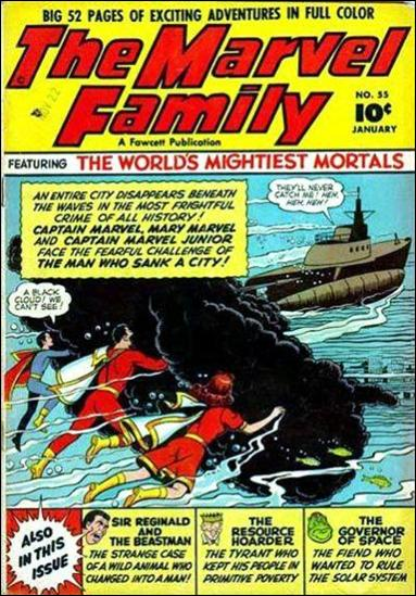 Marvel Family 55-A by Fawcett