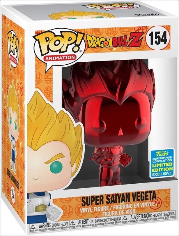 POP! Animation Super Saiyan Vegeta (Red Chrome) Summer Convention by Funko
