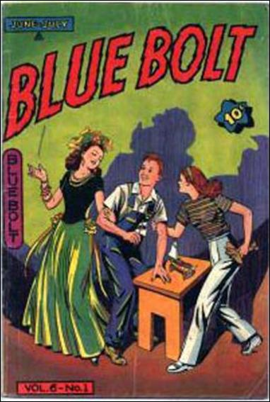 Blue Bolt (1945) 1-A by Novelty Press