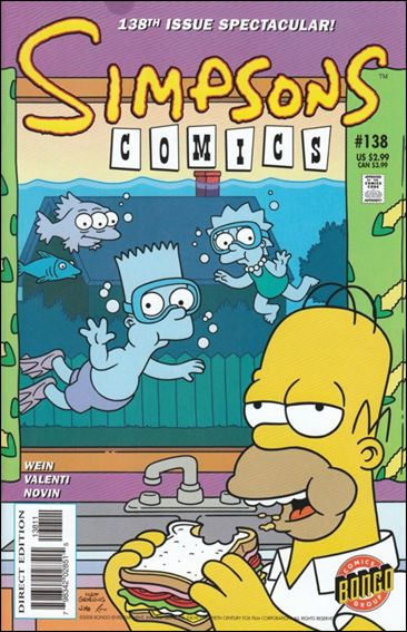 Simpsons Comics 138-A by Bongo