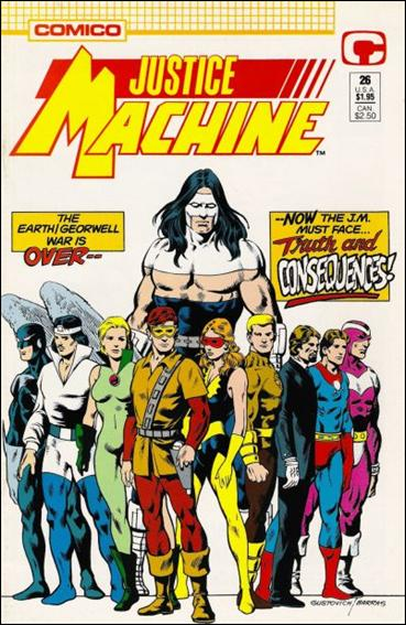 Justice Machine (1987) 26-A by Comico
