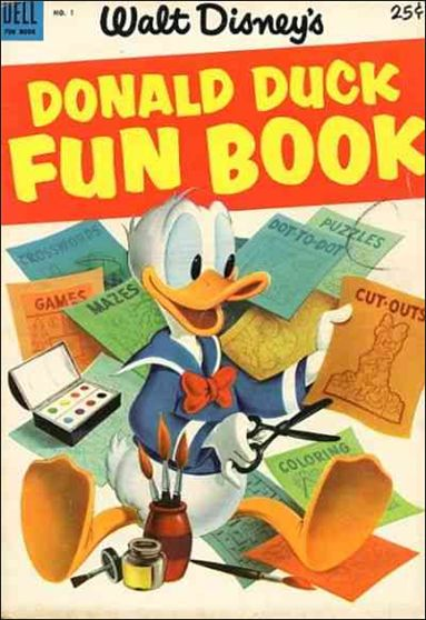 Donald Duck Fun Book 1-A by Dell