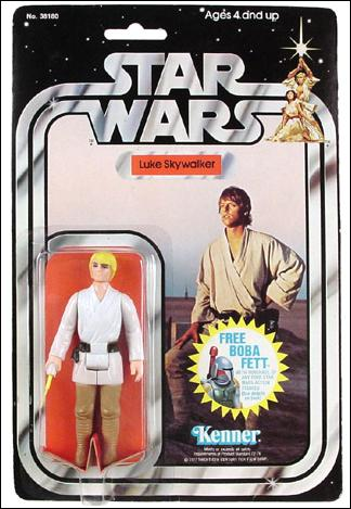 "Star Wars 3 3/4"" Basic Action Figures (Vintage) Luke Skywalker (SW 20/21 Back) by Kenner"