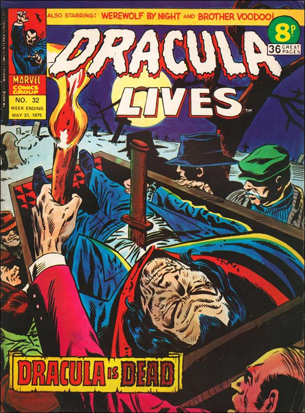Dracula Lives (UK) 32-A by Marvel UK