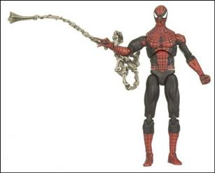 Marvel Universe (Series 1) Spider-Man (Red & Dark Blue Costume) - Loose