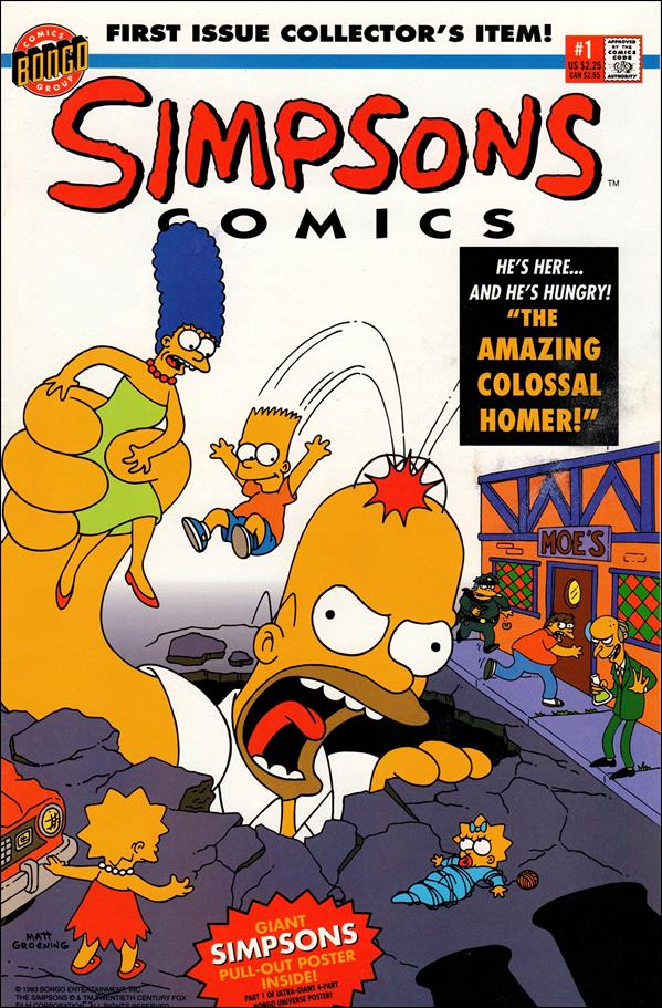 Simpsons Comics 1-A by Bongo