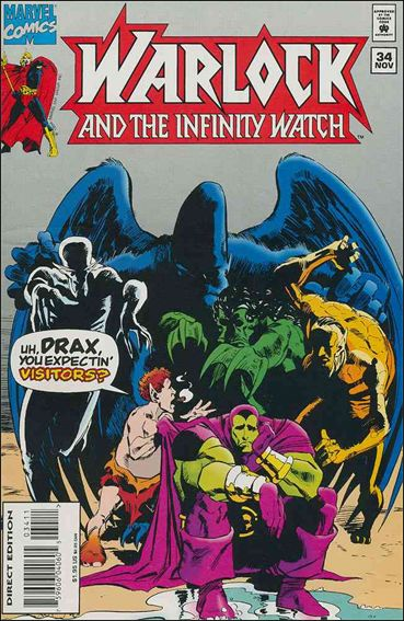 Warlock and the Infinity Watch 34-A by Marvel