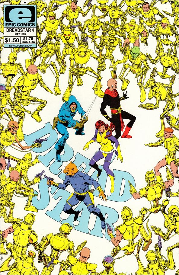 Dreadstar (1982) 4-A by Epic