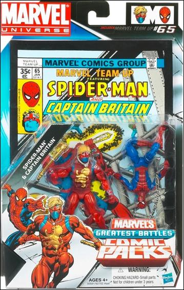 Marvel Universe: Marvel's Greatest Battles (Comic-Packs) Spider-Man and Captain Britain by Hasbro