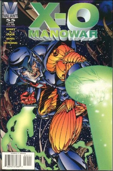 X-O Manowar (1992) 55-A by Valiant
