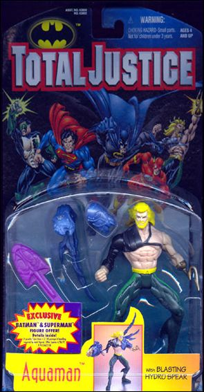 Total Justice Aquaman (Blasting Hydro Spear) by Kenner