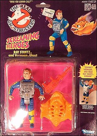 Real Ghostbusters: Screaming Heroes Ray Stantz and Vermoan Ghost by Kenner