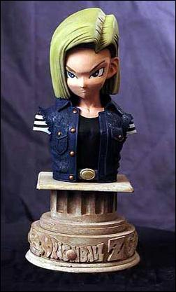 Dragonball Z Mini Resin Busts Android 18 by Palisades Toys
