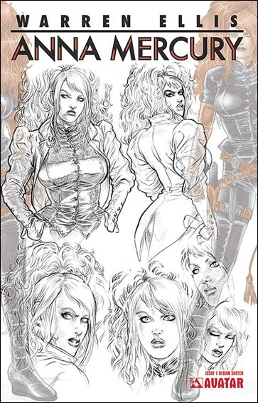 Anna Mercury 1-B by Avatar Press
