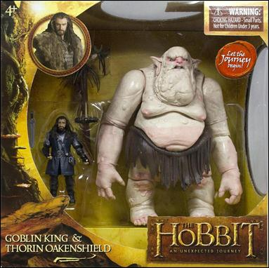 "Hobbit: An Unexpected Journey (3 3/4"" 2-Packs) Goblin King and Thorin Oakenshield by The Bridge Direct"