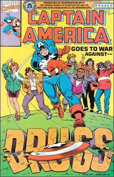 Captain America Goes to War Against Drugs 1-E by Marvel