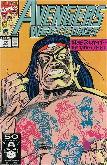 Avengers West Coast 72-A by Marvel
