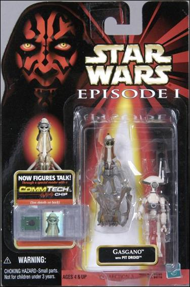 Star Wars: Episode I 3 3/4&quot; Basic Action Figures Gasgano with Pit Droid (No Logos) by Hasbro