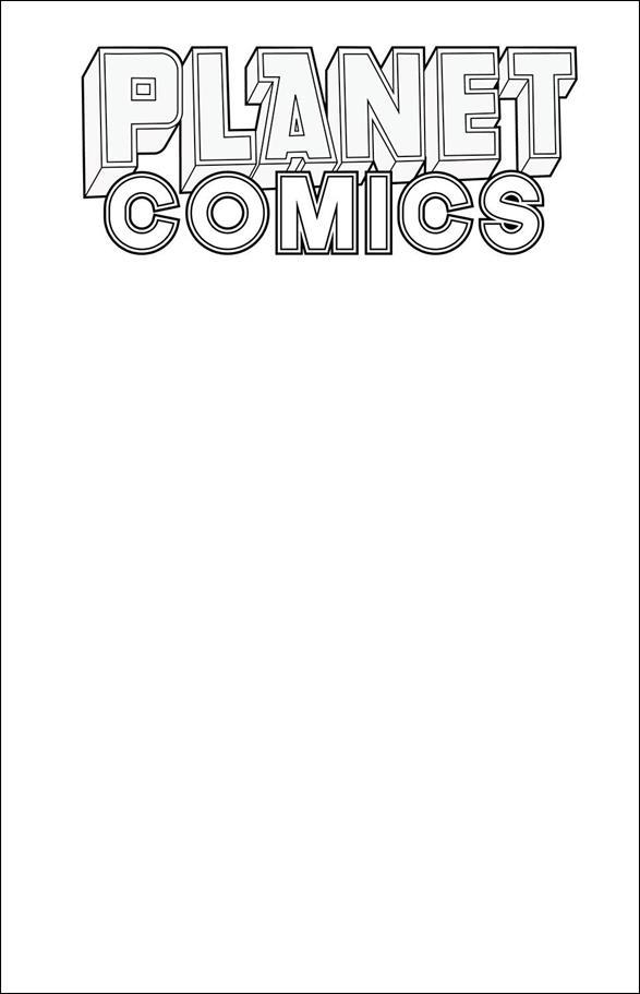 Planet Comics Sketchbook nn-A by Antarctic Press