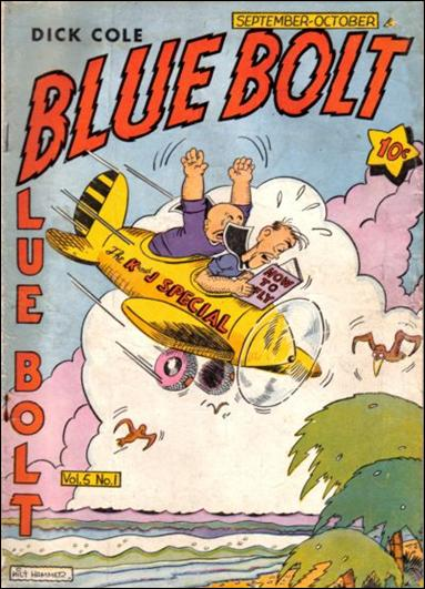 Blue Bolt (1944) 1-A by Novelty Press