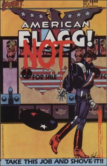 American Flagg! (1983) 8-A by First