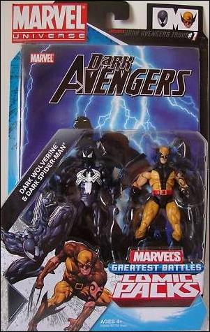 Marvel Universe: Marvel's Greatest Battles (Comic-Packs) Dark Wolverine and Dark Spider-Man by Hasbro