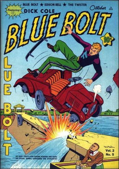 Blue Bolt (1941) 5-A by Novelty Press