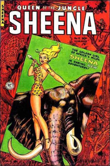 Sheena, Queen of the Jungle 12-A by Fiction House Magazines