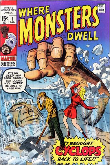 Where Monsters Dwell 1-A by Marvel