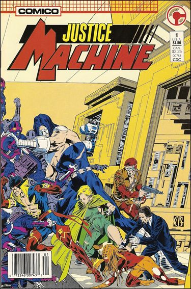 Justice Machine (1987) 1-A by Comico