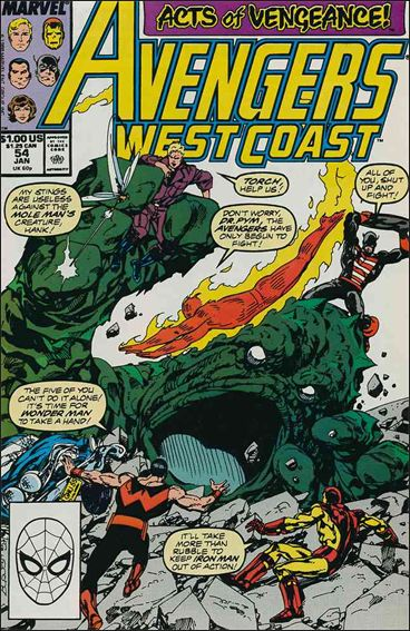 Avengers West Coast 54-A by Marvel