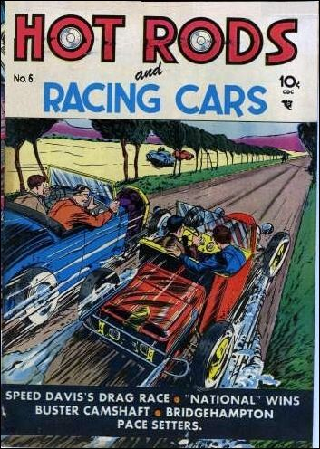 Hot Rods and Racing Cars 6-A by Charlton