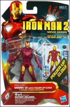 Iron Man 2 Iron Man - Mark VI w/Power Up Glow (Movie Series) by Hasbro