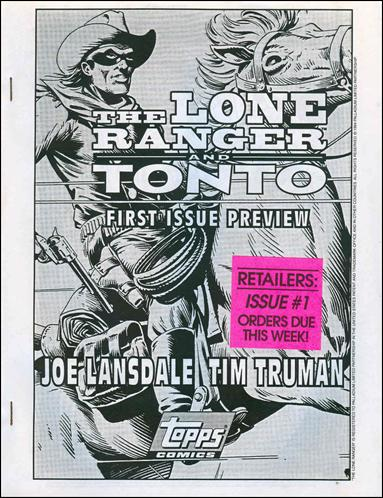 Lone Ranger and Tonto Preview-A by Topps