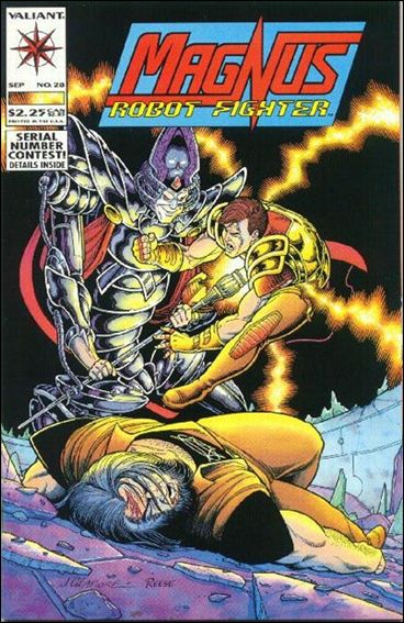 Magnus Robot Fighter (1991) 28-A by Valiant