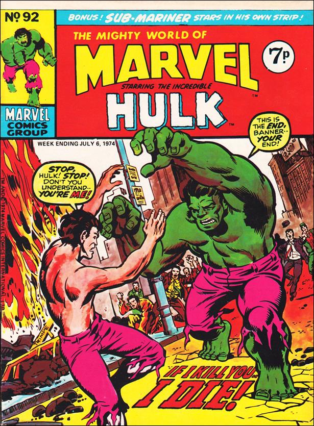 Mighty World of Marvel (UK) (1972) 92-A by Marvel UK