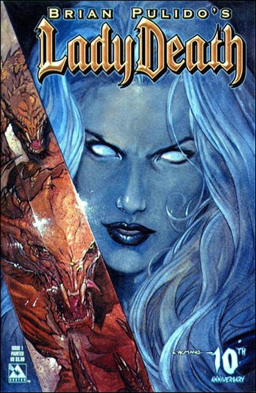 Brian Pulido's Lady Death #1 10th Anniversary 1-A by Avatar Press